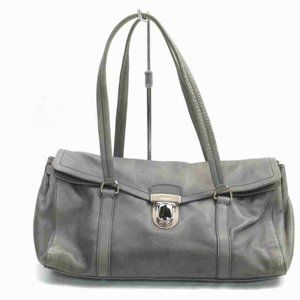 Prada Grey Leather Boston 860059